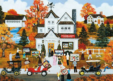 """Wooster Scott """"ART LOVERS"""" Gallery Town Auction Autumn BOXLESS Puzzle *100%*"""