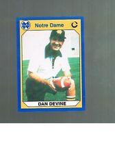 DAN DEVINE #28 COACH 1990 Collegiate Collection Notre Dame Fighting Irish