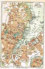 Myers Lexicon City Map - KIEL - 1913