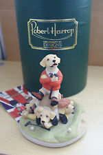 ROBERT HARROP FOUR UNDER YELLOW  LABRADOR PUPPIES PLAYING GOLF   MIB