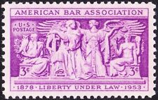 US - 1953 - 3 Cents American Bar Association 75th Anniversary Issue # 1022 NH