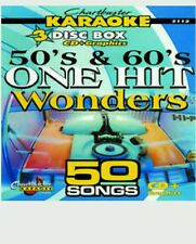 CHARTBUSTER KARAOKE CDG  50s & 60s ONE HIT  (5112)  3 DISC  50 TRACKS   NEW