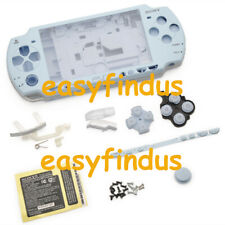 PSP 2000 Slim Full Housing Shell Case repair parts replacement button ice blue