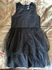 Lands' End Girls Black Tulle Holiday Dress Special Occasion Plus Size 8+