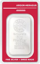 Silberbarren 50g Argor Heraeus 999 Feinsilber 50 Gramm Swiss silver bar