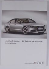 NEW GENUINE AUDI A6 S6 C7 SALOON OWNERS MANUAL HANDBOOK – 04/2012 EDITION
