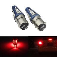 2x 12-24V Ampoules LED 48 SMD Rouge feux stop Feu arrière P21W / 5W BAY15D 1157