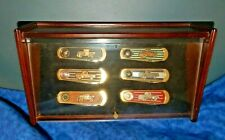 FRANKLIN MINT Ford Pick Up Truck Folding Pocket Knife 6 Pc Set Wall Display Case