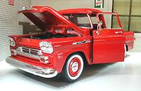 G LGB 1:24 Scale 1958 Chevrolet Apache Fleetside Pickup Diecast Model Red 79311