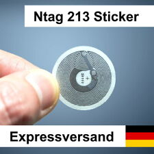 1-20 NFC Tags 180 Byte - Sticker NTag213 Tag RFID Tags - für Android & iPhone EU