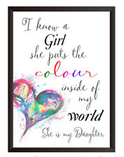 Daughter Gift Birthday Gift for Daughter Keepsake Quote Print