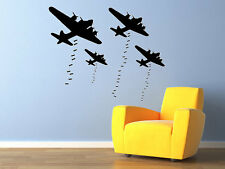 B-17 Bombers Wall Decal World War 2 Airplane Wall Decal Vinyl Aviation 29x23""