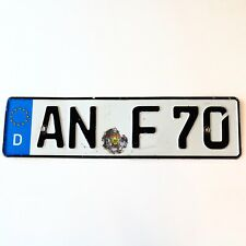 Ansbach Germany License Plate AN F 70 - US SELLER