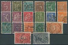 Deutsches Reich 158 - 176 gestempelt ME 75 (635075)