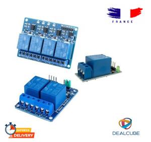 Module relais 5V ou 12V à 1 ou 2 ou 4 canaux optocoupleurs Arduino Raspberry