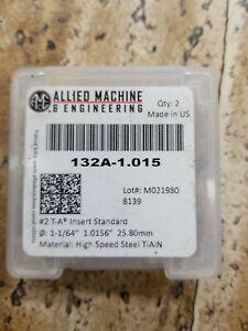 2 New 1 1/64 (1.0156) Spade Drill Inserts