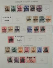 GERMANY OCCUPATION OF BELGIUM STAMPS SELECTION ON ALBUM PAGE  (K135)