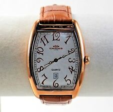 Oniss Paris Curvex Tonneau Men's Watch, Champagne Dial in RoseGold Case