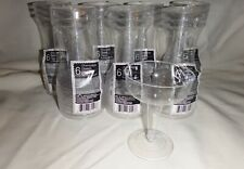 Hard Plastic Two Pc 4 Oz Champagne Glasses disposable plastic - 42 cups party