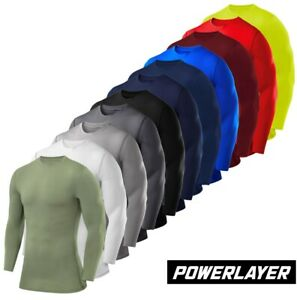 Compression Base Layers PowerLayer Mens Boys Thermal Top Skins Running