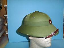 b6736 Vietnam NVA North Vietnam Army Late/Post  War Wood Pulp shell w/ Badge