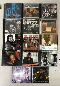 OSCAR PETERSON - Jazz - Lot of 14 CDs - w/ Count Basie, Stan Getz, Sarah Vaughan