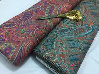 *NEW* Stretch Viscose Jersey Large Paisley Prints 8 Dress/Craft Fabric*FREE P&P*