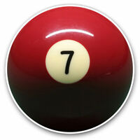 2 x Vinyl Stickers 7.5cm - 7 Seven Pool Snooker Ball Cool Gift #2414