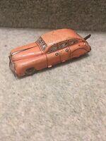 British Made English Tin Plate Type Toy Car Clockwork Wind-Up Metal Antique