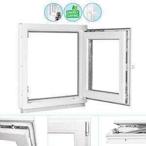 Kellerfenster Kunststoff Fenster 2-fach ALLE GRÖßEN Weiß Dreh Kipp PREMIUM