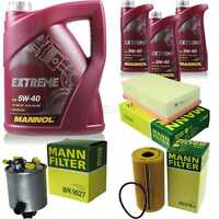 MANNOL 8L Extreme 5W-40 Motor-Öl+MANN-FILTER für Renault Koleos HY_ 2.0 dCi