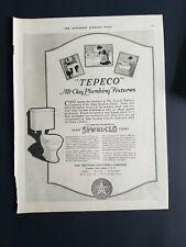 1920 Trenton potteries Te-pe-co all clay Plumbing fixtures bathroom toilet ad