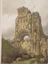 España. Burgos.«Convento de Carmelitas» Ruinas. Dibujó David Roberts. Grabó J. C