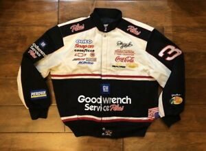 Dale Earnhardt #3 GM Goodwrench 7 Time Champ Jacket Mens Size Large NASCAR Rare