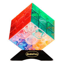 3x3x3 Transparent Color Stickerless Speed Puzzle Cube Ultra-Smooth Magic Cube
