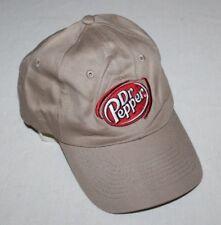 Tan Dr. Pepper Snapback Hat Baseball Cap Patch Cola Rare Nice Employee Pepsi