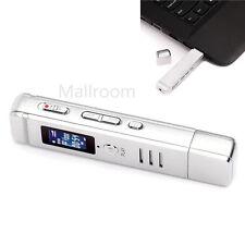 Digital 8GB Diktiergerät USB LCD Aufnahmegerät Musik Mp3-player Voice Recorder