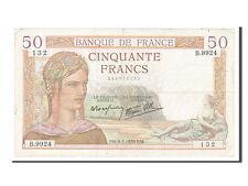 Billets, 50 Francs type Cérès Modifié #154644