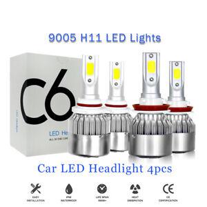 For Toyota 4Runner 2010-2020 - 4x White LED Headlight Bulbs High&Low Beam Lights