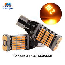 2Pcs Canbus T15 4014 45 SMD LED 12V 24V Car Bulbs Turn Signal Light Amber Yellow