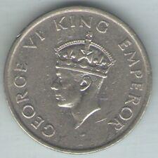 BRITISH INDIA -1947 - GEORGE VI HALF RUPEE COIN EX-RARE COIN