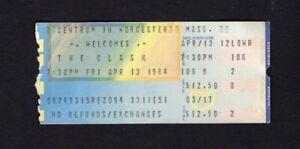1984 The Clash Concert Ticket Centrum Worcester MA London Calling Rare