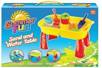 Summer Fun Children's Sand And Water Table Play Set With Accessories BNIB #NG