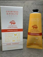 Crabtree & Evelyn Citron & Coriander Hand Therapy 3.5oz New In Box Same Day Ship