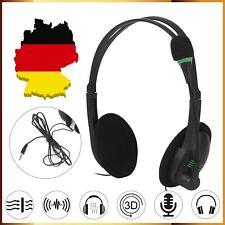USB Headset Kopfhörer mit Mikrofon PC Laptop Headphone Telefon Stereo Computer