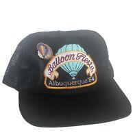1984 Albuquerque Hot Air Balloon Fiesta Festival Ball Cap Embroidered Shasta Pin