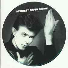 DAVID BOWIE heroes 2005 b&w RARE circular VINYL STICKER no longer made IMPORT