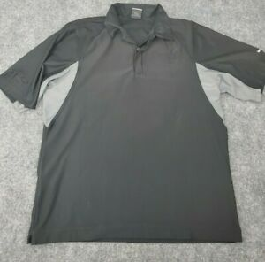 Men's Medium Nike Dri Fit UV Polo Shirt Black TRD Toyota Racing Development Golf