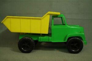 rare vintage old Gay Toys Yellow Green plastic Dump Truck Walled Lake Michigan