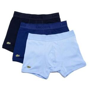 New Lacoste 3 Pack Classic Cotton Trunks Men's Underwear